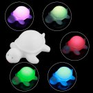 2 x Cute Off White Multi-Color Change LED Light Turtle Mood Lamp Night Glow  db