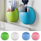 2 Pcs Bathroom Toothbrush Wall Mount Holder Sucker Suction Cups Organizer db