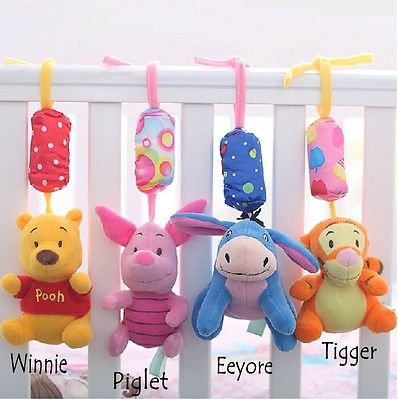 1 x Soft Toy Winnie Baby Kid Crib Plush Soft Stuffed Windbell Hanging Rattles Toy Winnie db