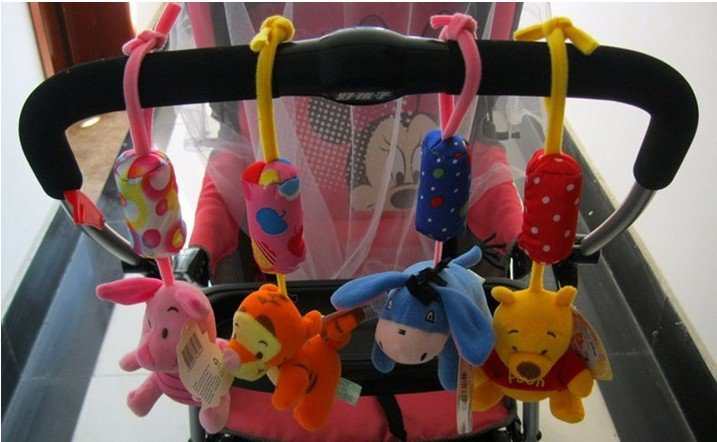 1 x Soft Toy Piglet Baby Kid Crib Plush Soft Stuffed Windbell Hanging Rattles Toy Piglet db