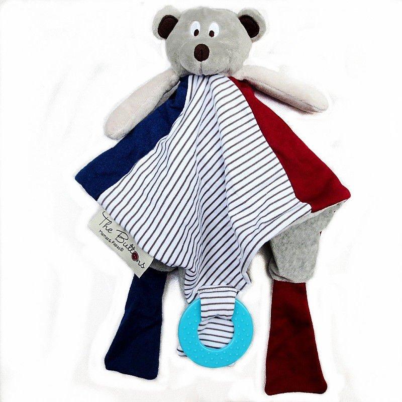 1 x Infant Baby Toddler Kid Rattle Soft Plush Blanket Bear Doll Toy db