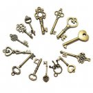 15pcs Mixed Random Antique Vintage Old Look Skeleton Key Lot Crown Bow Charm db