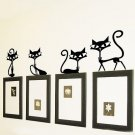 Wall Stickers Removable Cute Lovely Cat Party Home Mural Decals Decor Art db
