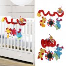 Animal Handbells Developmental Toy Bed Bells Kids Baby Soft Toys Rattle db