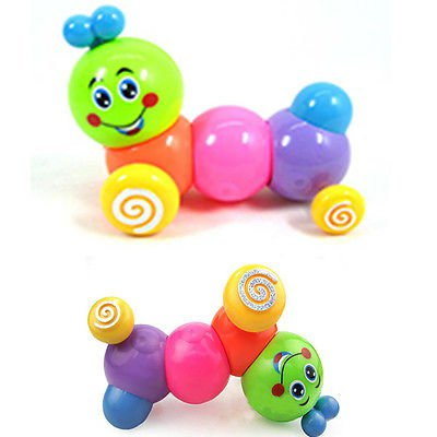 Kids Baby Developmental Educational Toy Lovely Colorful Caterpillar Wind-up Toys db
