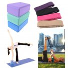 Blue Yoga Block Brick Foaming Foam Home Exercise Practice Fitness Sport Tool  One Pcs db
