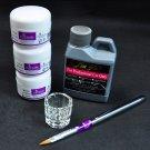 Portable Nail Art Tool Kit Set Crystal Powder Acrylic Liquid Dappen Dish db