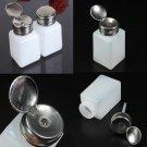 200ML Liquid Alcohol Press Nail Polish Remover Dispenser Pumping Bottle  db