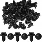 100 Pcs Black Plastic Rivets Retainer Clips Car Door Fender for Honda Acura DB