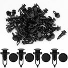 100 x Car Door Fender Clips 9mm Black Plastic Rivets Fastener for Toyota DB