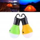Outdoor Hanging 3LED Camping Tent Light Bulb Fishing Lantern Lamp 1 Pcs Yellow