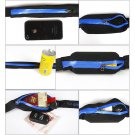 Sports Running Waist Belly Fanny Pack Runner Belt Jogging Pouch Bag 1 Pcs Blue Color