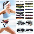 Sports Running Waist Belly Fanny Pack Runner Belt Jogging Pouch Bag 1 Pcs Black Color