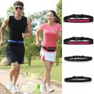 Sports Running Waist Belly Fanny Pack Runner Belt Jogging Pouch Bag 1 Pcs Yellow  Color