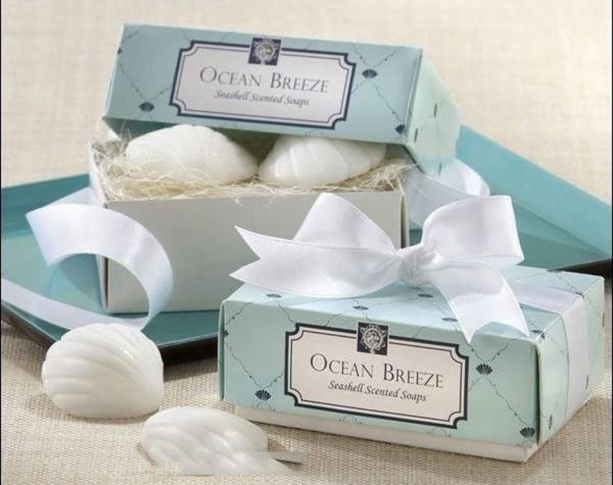 Creative Wedding Favors Bridal Party Gift Mini Scented Shower Bath COWRY SHAPE Soap Handmade DB