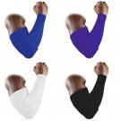 Honeycomb Pad Crashproof Football Basketball Shooting Arm Sleeve Elbow Support 1 Pcs Black Size L
