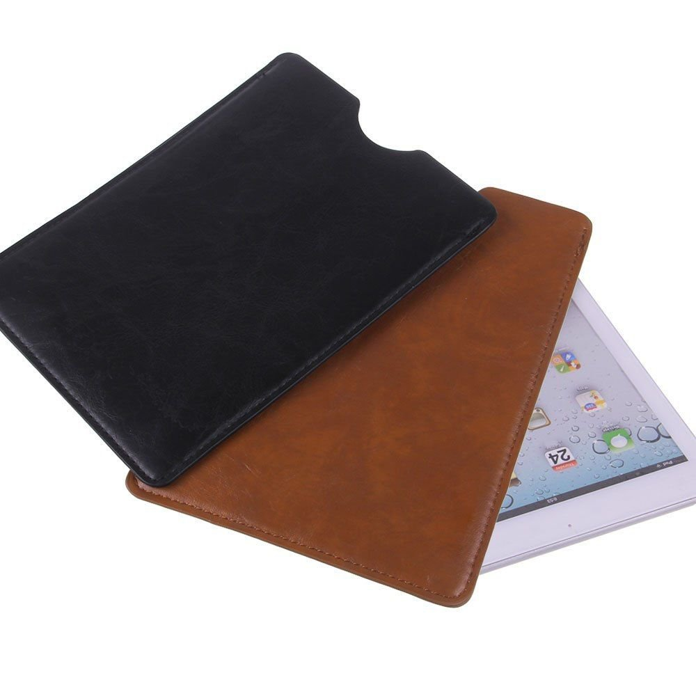 """PU Leather Case Cover Sleeve Pouch For 7"""" Android Tablet 7.9"""" ipad Mini & Retina Brown color 1 Pcs"""