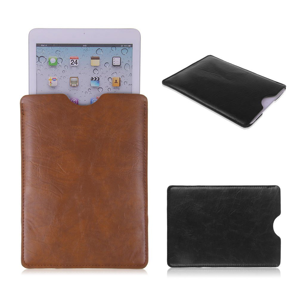 """PU Leather Case Cover Sleeve Pouch For 7"""" Android Tablet 7.9"""" ipad Mini & Retina Black color 1 Pcs"""