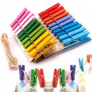 20pcs Mini Colorful Wooden Pegs Clothespin Craft Clips db