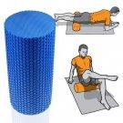 Gym Exercise Fitness Floating Point EVA Yoga Foam Roller Physio Trigger Massage Blue Color 1 Pcs