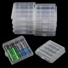 10pcs Hard Plastic Battery Case Box Holder Storage for 4x AA / 5x AAA Batteries db