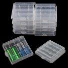10pcs Hard Plastic Battery Case Box Holder Storage for 4x AA / 5x AAA Batteries db