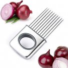 Stainless Steel Onion Holder Slicer Vegetable tools Tomato Cutter db