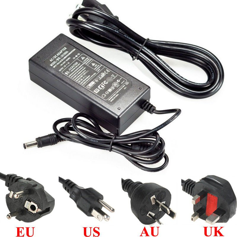 AC 85-245V To DC 12V 5A 60W Power Supply Adapter For Led Light Strip EU Plug db