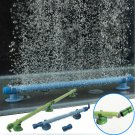10 Inch Blue Fish Tank Aquarium Decor Air Stone Bubble Wall Tube db