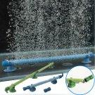 14 Inch Blue Fish Tank Aquarium Decor Air Stone Bubble Wall Tube db