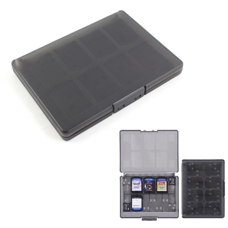 Black 18 in 1 Game Memory Card Case Holder Storage Box for Sony PS Vita PSV db