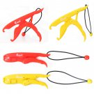 Plastic Fishing Fish Lip Grip Lure Controlling Steel Plier Grip Gripper Tool Yellow