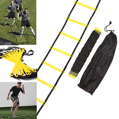 Durable 8 Rung 12ft 4m Agility Ladder for Soccer Speed Sports Training +Free Bag DHB
