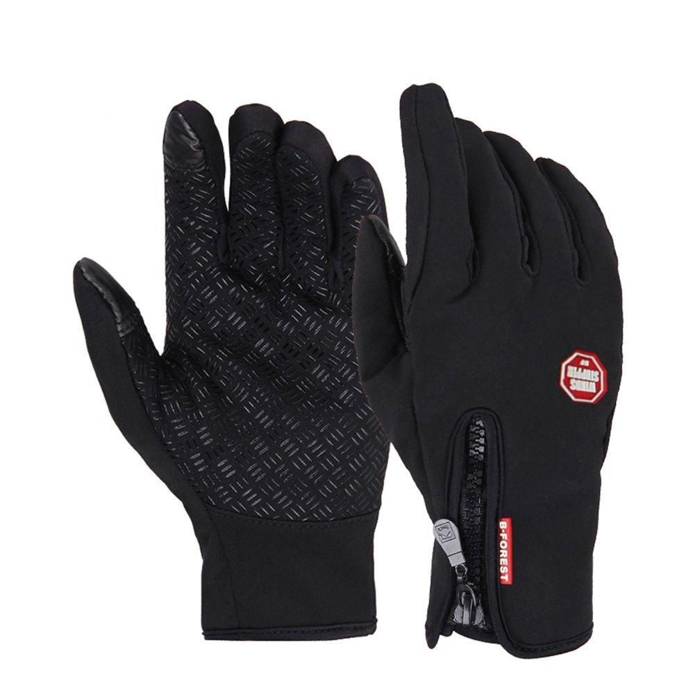 Windproof Waterproof Touch Screen Warm Glove Mittens Fleece Outdoor Cycling Size S