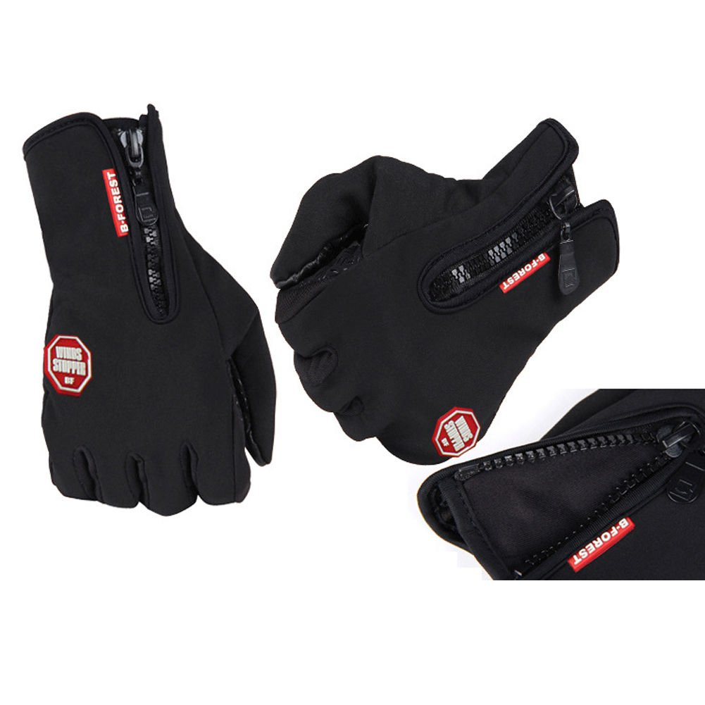 Windproof Waterproof Touch Screen Warm Glove Mittens Fleece Outdoor Cycling Size XL