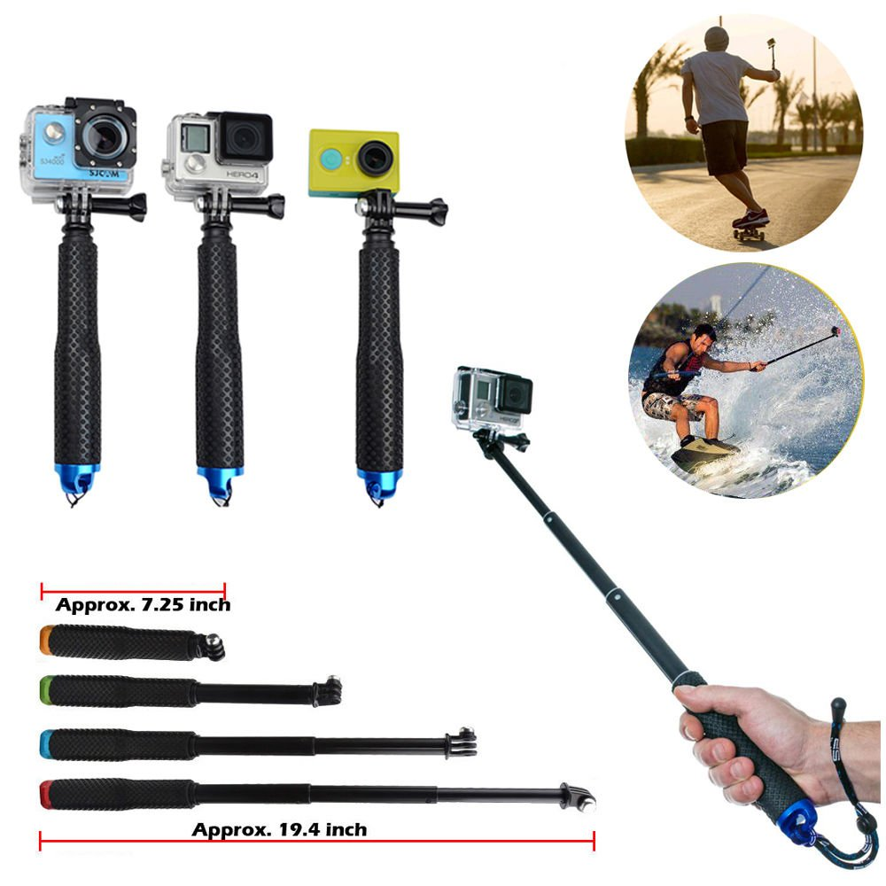 Waterproof Handheld Monopod Tripod Selfie Stick Pole for Gopro Hero 4 3+ SJ4000 dfg