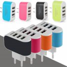 Universal 3.1A Triple USB 3 Port Wall Home Travel AC Charger Adapter For US 1 Pcs