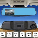 3.6'' HD Car Rearview Mirror Camera DVR Video Recorder Dash Cam Night VisionMN