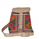 Embroidered Leather Handbag ethnic women's leather bag,satchel,crosbody purse clutch.