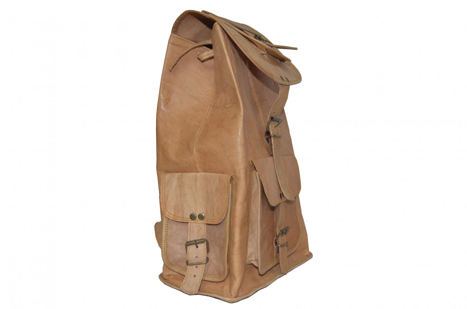 Leather backpack / men backpack / boys backpack / women backpack for travel and camping.