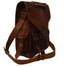 Vintage Leather Rucksack/ unisex messenger Bag, ideal for christmas gifts and personal use
