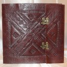 Handmade leather journal/diary/notebook with dual clasp.