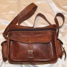 Leather camera bag/Sling messenger bag for office/ school/ gym/ travel.