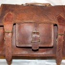 Handmade Goat Leather Messenger/College/Laptop/office Satchel Bag.