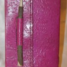 Handmade leather journal with wooden pencil. Daily Sketchbook or Pocket Book.