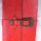 Real Leather handmade Sketchbook Scrapbook Notebook Diary Journal #12
