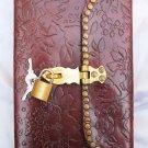 Real Leather handmade Sketchbook Scrapbook Notebook Diary Journal #20