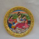 Marble Mughal Plate Painting Islamic Ethnic Art gifts home decor.