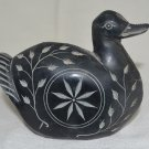 Black marble exotic bird for home decor, gifts and kid's toy.