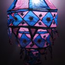 Indian designer handmade cotton Applique hanging lamp #5